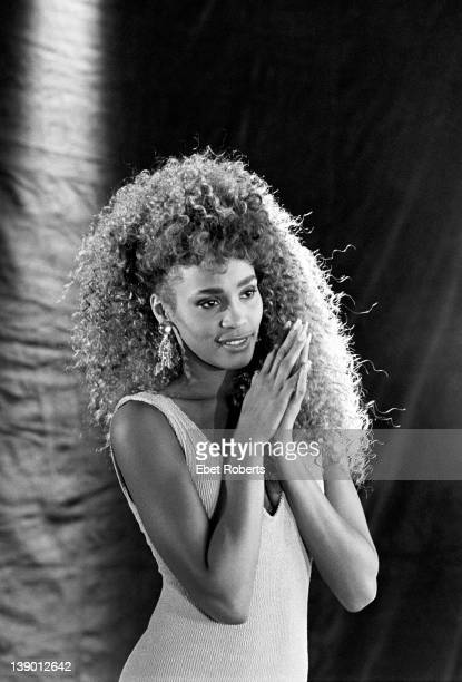 Whitney Houston photographed during the taping of the 'I Want to Dance With Somebody' video in New York on March 13 1987
