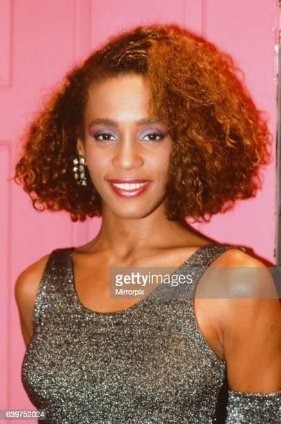 Whitney Houston pictured in London as she topped the British charts on 10th December 1985