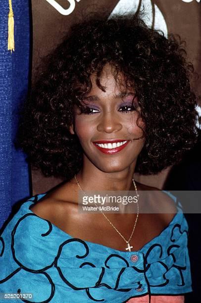 Whitney Houston reveives the United Negro College Fund Award in New York City July 1988