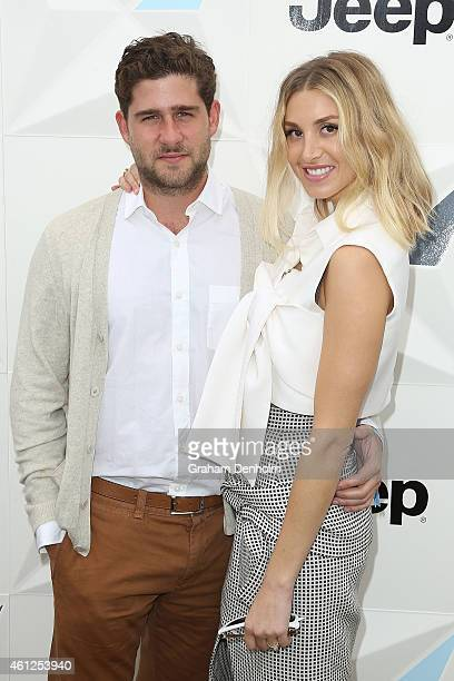 Whitney Port and fiance Tim Rosenman attend the Portsea Polo event at Point Nepean Quarantine Station on January 10 2015 in Melbourne Australia