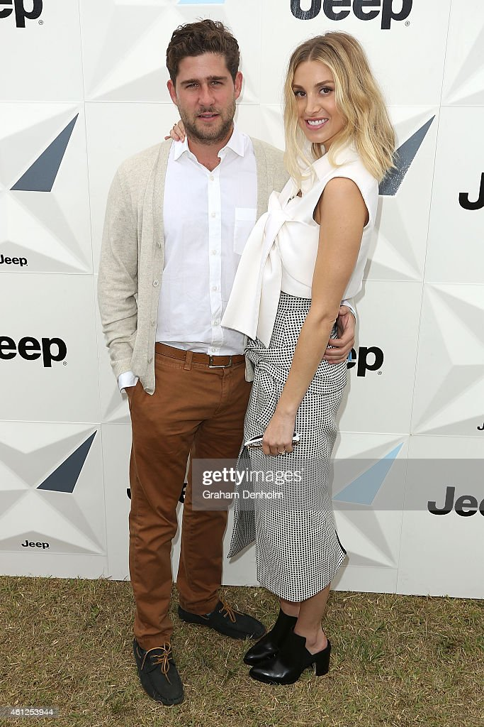 Whitney Port (R) and fiance Tim Rosenman attend the Portsea Polo event at Point Nepean Quarantine Station on January 10, 2015 in Melbourne, Australia.