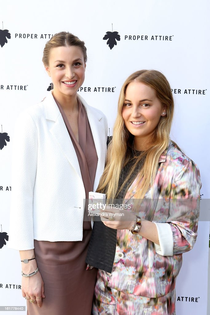 <a gi-track='captionPersonalityLinkClicked' href=/galleries/search?phrase=Whitney+Port&family=editorial&specificpeople=544473 ng-click='$event.stopPropagation()'>Whitney Port</a> and Paige Port at Whitney Eve For Proper Attire Launch held at The Sunset Marquis Hotel & Villas on February 15, 2013 in West Hollywood, California.