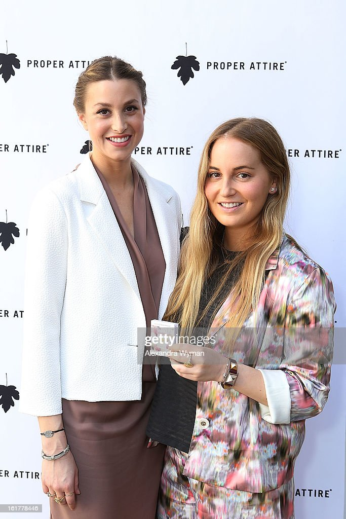 Whitney Port and Paige Port at Whitney Eve For Proper Attire Launch held at The Sunset Marquis Hotel & Villas on February 15, 2013 in West Hollywood, California.