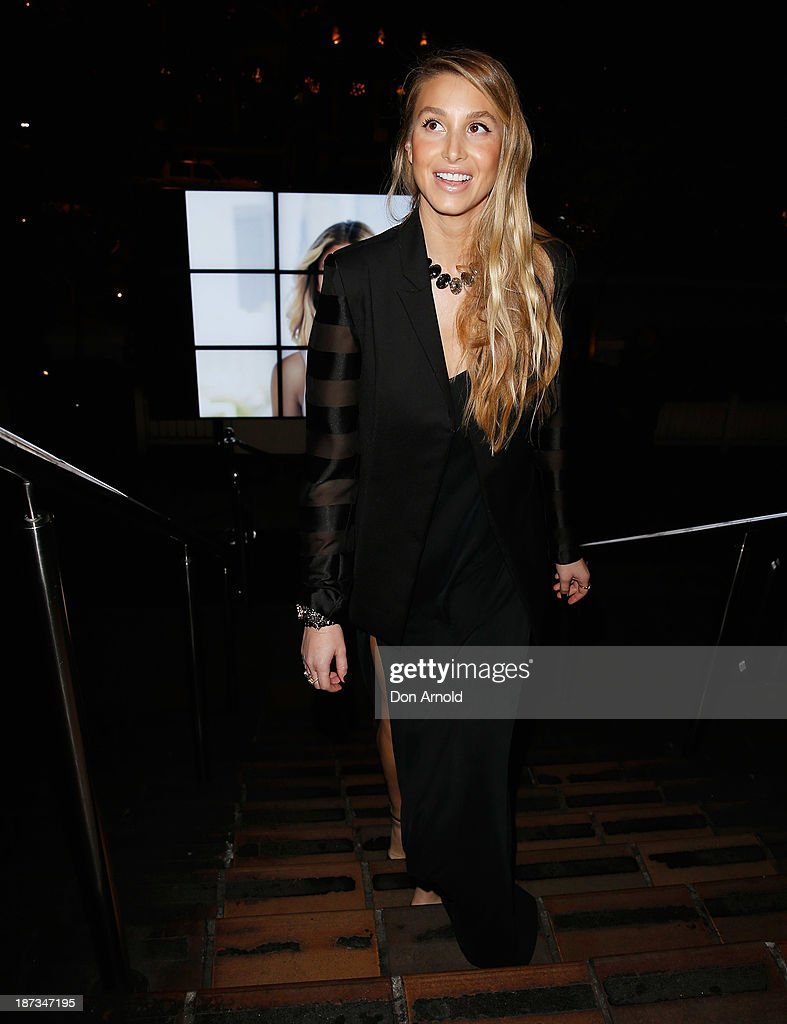 <a gi-track='captionPersonalityLinkClicked' href=/galleries/search?phrase=Whitney+Port&family=editorial&specificpeople=544473 ng-click='$event.stopPropagation()'>Whitney Port</a> arrives at the Cooper St. 25th Anniversary celebration at Hugo's Lounge on November 8, 2013 in Sydney, Australia.