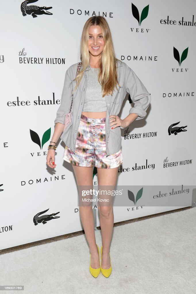 <a gi-track='captionPersonalityLinkClicked' href=/galleries/search?phrase=Whitney+Port&family=editorial&specificpeople=544473 ng-click='$event.stopPropagation()'>Whitney Port</a> attends The Beverly Hilton unveiling of the redesigned Aqua Star Pool By Estee Stanley at The Beverly Hilton Hotel on May 22, 2013 in Beverly Hills, California.