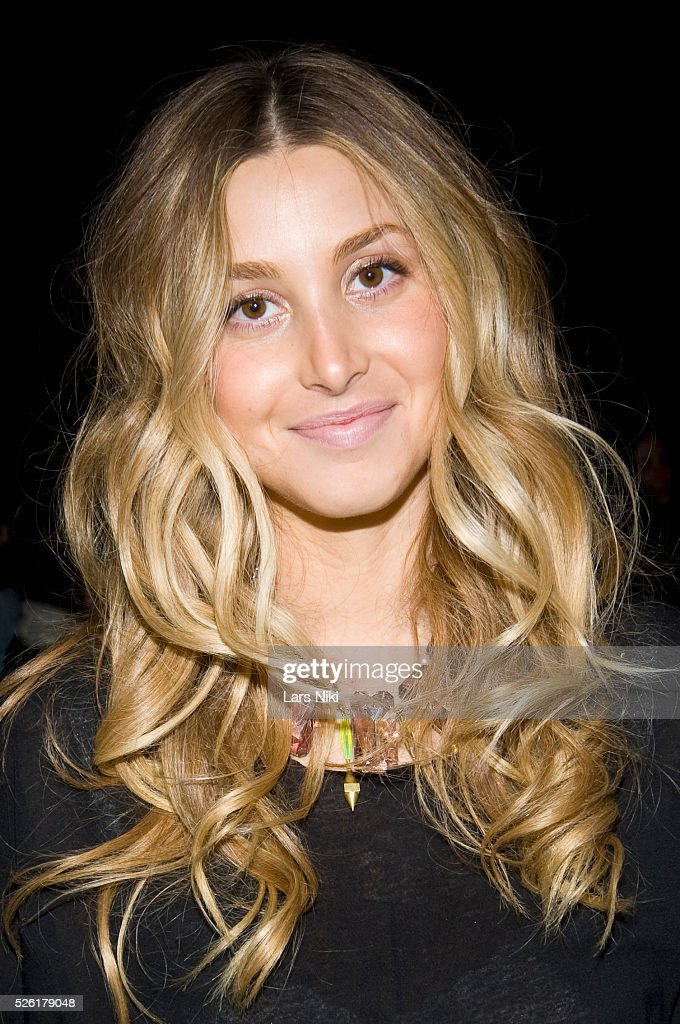 Whitney Port attends the 'Charlotte Ronson' fashion show at Bryant Park during Mercedes Benz fashion week in New York City