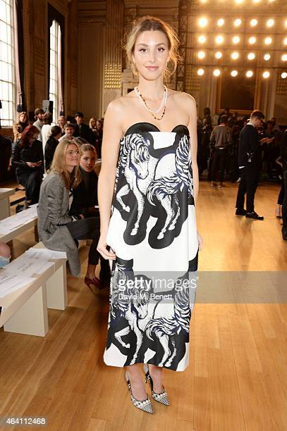 Whitney Port attends the ISSA Autumn/Winter 2015 Runway Show during London Fashion Week at One Great George Street on February 22 2015 in London...