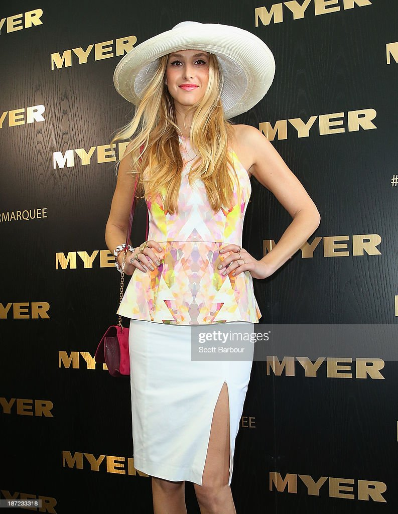 <a gi-track='captionPersonalityLinkClicked' href=/galleries/search?phrase=Whitney+Port&family=editorial&specificpeople=544473 ng-click='$event.stopPropagation()'>Whitney Port</a> attends the Myer marquee during Oaks Day at Flemington Racecourse on November 7, 2013 in Melbourne, Australia.