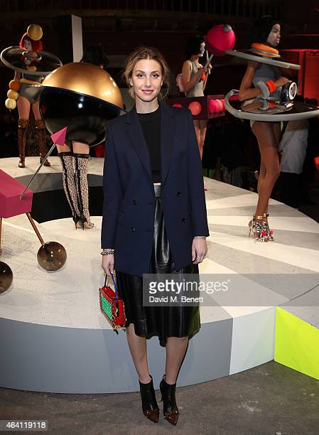 Whitney Port attends the Sophia Webster presentation during London Fashion Week Fall/Winter 2015/16 at The Welsh Chapel on February 22 2015 in London...