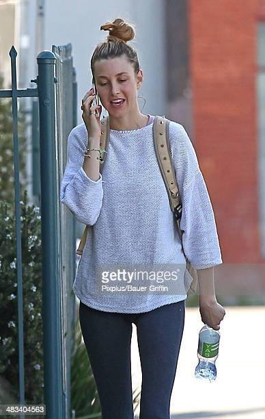 Whitney Port is seen leaving spin class on April 08 2014 in Los Angeles California