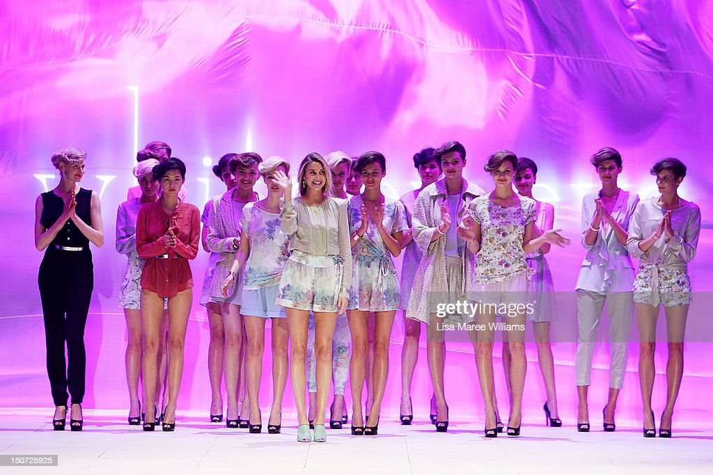 <a gi-track='captionPersonalityLinkClicked' href=/galleries/search?phrase=Whitney+Port&family=editorial&specificpeople=544473 ng-click='$event.stopPropagation()'>Whitney Port</a> joins models on the catwalk during the Whitney Eve show as part of the Mercedes-Benz Fashion festival Sydney 2012 at Sydney Town Hall on August 25, 2012 in Sydney, Australia.