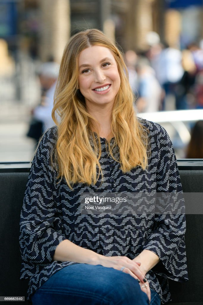 Whitney Port visits 'Extra' at Universal Studios Hollywood on April 18, 2017 in Universal City, California.