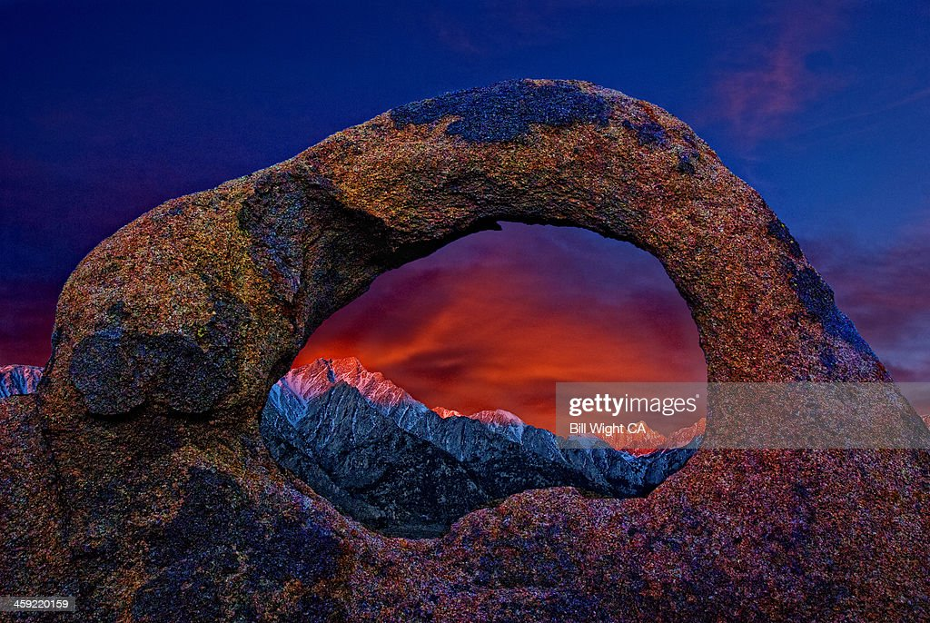 Whitney Portal Arch at sunrise