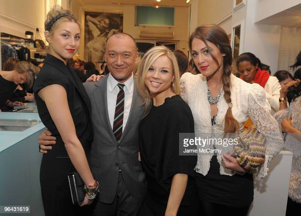 Whitney PortJoe ZeeCreative Director of Elle MagazineErin Kaplan and Roxy Olin attend the Guess by Marciano and ELLE event benefiting the Susan G...