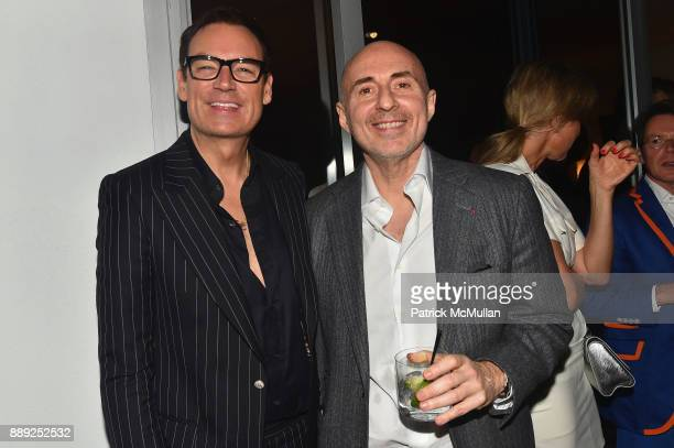 Whitney SudlerSmith and Fernando Sulichin attend the Galerie Gmurzynska Dinner in Honor of Jean Pigozzi at the Penthouse at the Faena Hotel Miami...