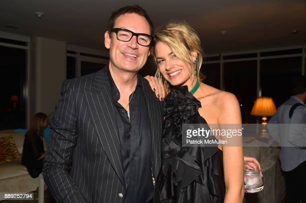 Whitney SudlerSmith and Isabelle Bscher attend the Galerie Gmurzynska Dinner in Honor of Jean Pigozzi at the Penthouse at the Faena Hotel Miami Beach...