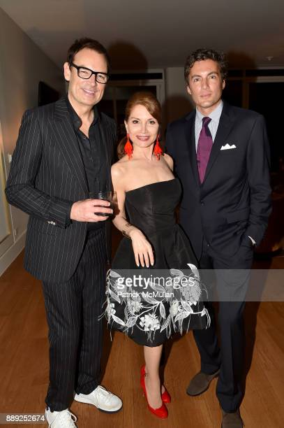 Whitney SudlerSmith Jean Shafiroff and Fabian Basabe attend the Galerie Gmurzynska Dinner in Honor of Jean Pigozzi at the Penthouse at the Faena...
