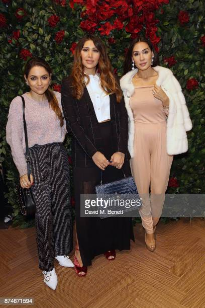 Whitney Valverde Maya Williams and Lucy Lascelles attend the launch of Wiley's new autobiography 'Eskiboy' at BASEMENT at The London EDITION on...