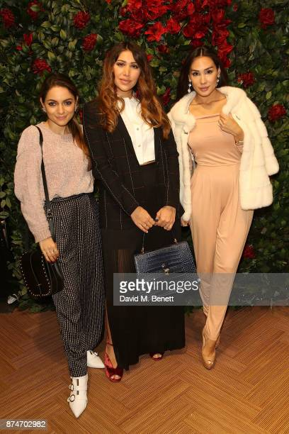 Whitney Valverde Maya Williams and Lucy Lascelles attend the launch of the ESCADA Flagship store on Sloane Street on November 15 2017 in London...