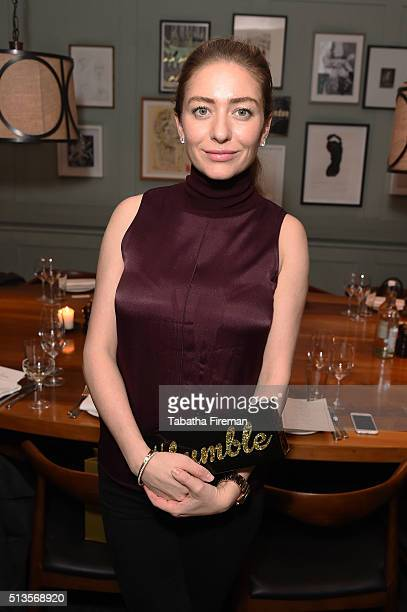 Whitney Wolfe founder and CEO of Bumble dating app hosts private dinner at Soho House on March 3 2016 in London England