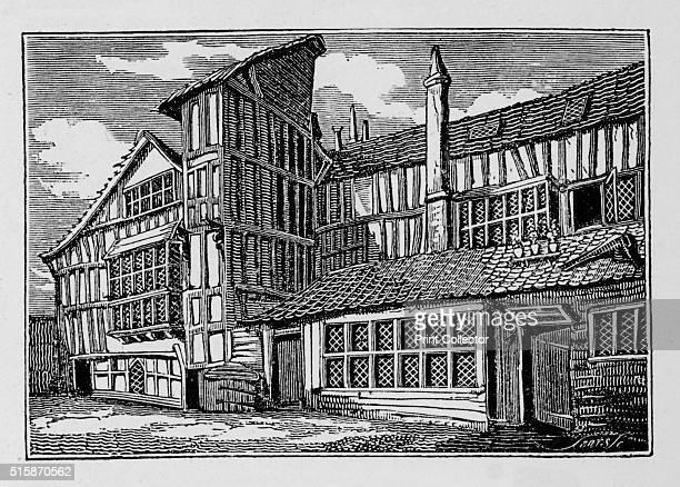 Whittington's House in Swithin's Passage Moor Lane City of London 1823 Richard 'Dick' Whittington was Mayor of London in 13971398 14061407 and...