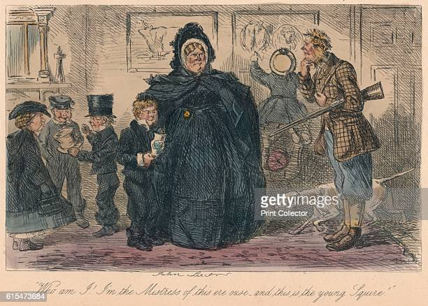 Who am I I'm the Mistress of this ere ouse and this is the young Squire 1865 From Mr Facey Romford's Hounds by Robert Smith Surtees [Bradbury and...
