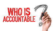 Who is Accountable? sign