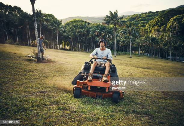 Who said mowing the lawn couldn't be fun?