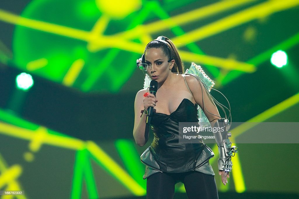 Who See of Montenegro perform on stage during the first semi final of the Eurovision Song Contest 2013 at Malmo Arena on May 14, 2013 in Malmo, Sweden.
