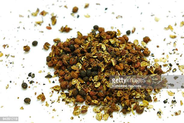Whole and Cracked Szechuan  Pepper