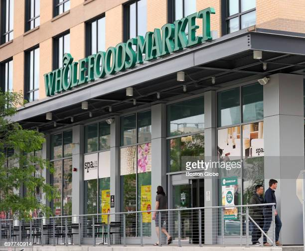 Whole Foods Market in Boston is pictured on Jun 16 2017 The company will be bought by Amazon for $137 billion