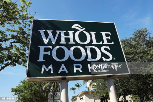 Whole Foods Market sign is seen outside the store as the company appointed five new directors to its board and replaced its chairman on May 10 2017...