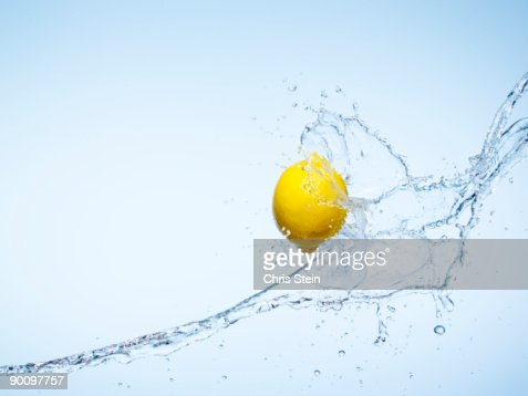 Whole Lemon and a water splash