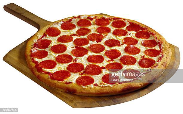 Whole pepperoni pizza