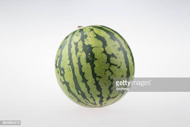 A whole ripe watermelon, studio shot