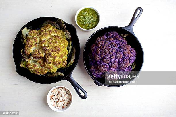 Whole Roasted Cauliflower With Chimichurri