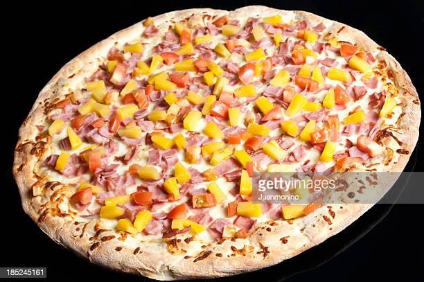 Whole thin crust Hawaiian pizza.