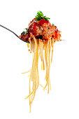 Whole wheat spaghetti and meatballs