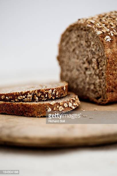 Wholemeal bread on a wooden board