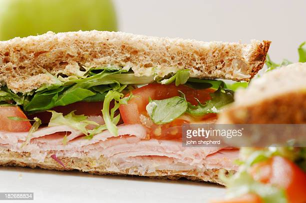 wholemeal ham salad sandwich