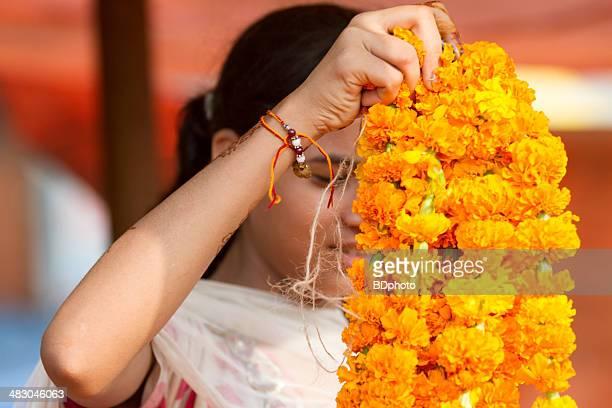 wholesale flower market, New Delhi, India
