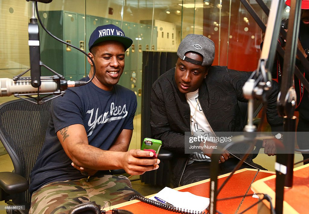 DJ Whoo Kid and K Camp invade 'The Whoolywood Shuffle' at SiriusXM Studios on May 6, 2014 in New York City.