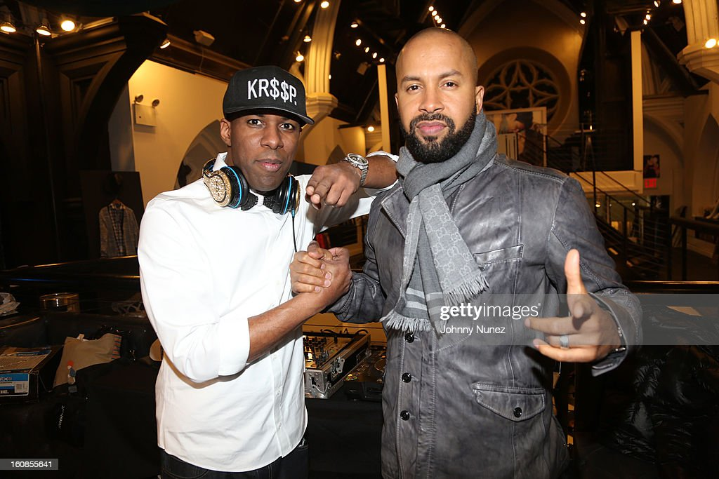 <a gi-track='captionPersonalityLinkClicked' href=/galleries/search?phrase=DJ+Whoo+Kid&family=editorial&specificpeople=4360604 ng-click='$event.stopPropagation()'>DJ Whoo Kid</a> and Kenny Burns attend the Secret Circus Clothing Fashion Week Kick Off Event at the Limelight Marketplace on February 6, 2013 in New York City.
