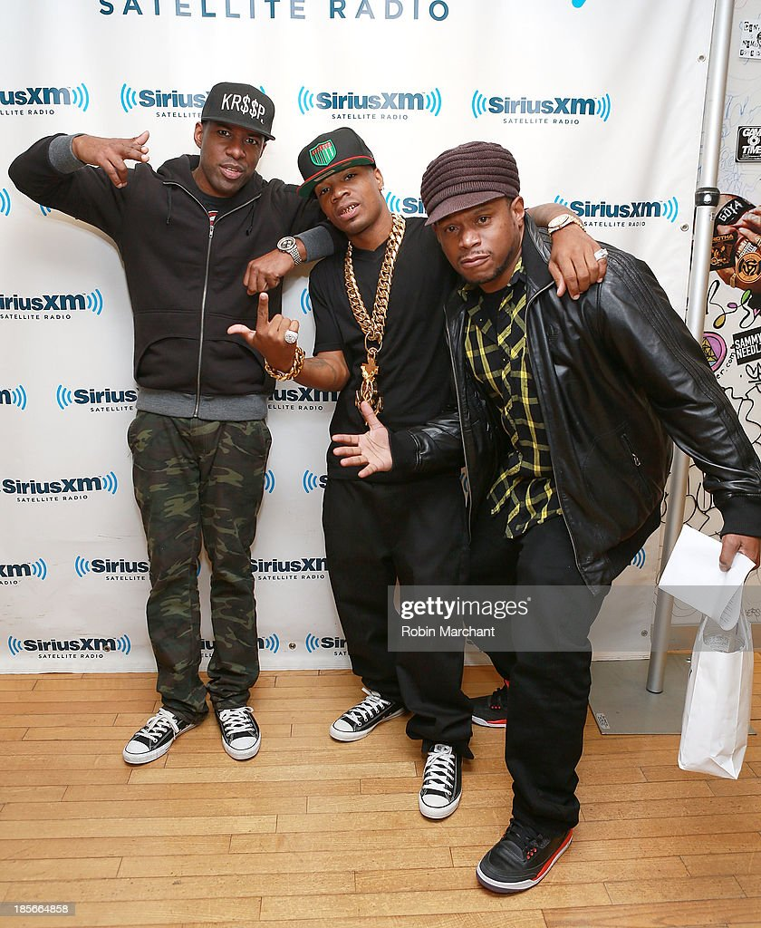 DJ Whoo Kid, Plies and <a gi-track='captionPersonalityLinkClicked' href=/galleries/search?phrase=Sway+Calloway&family=editorial&specificpeople=214641 ng-click='$event.stopPropagation()'>Sway Calloway</a> at SiriusXM Studios on October 23, 2013 in New York City.