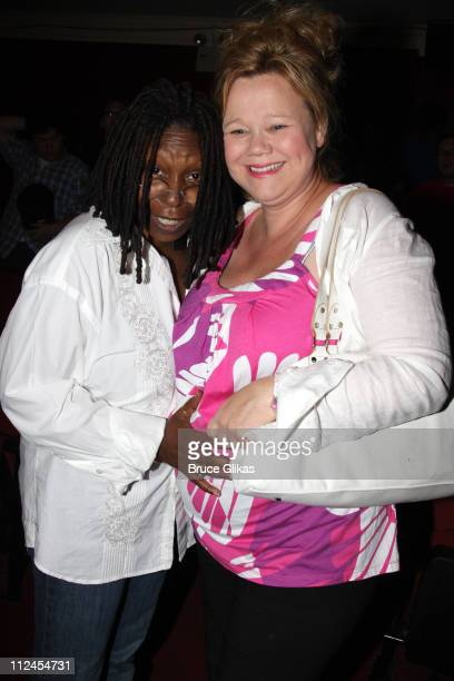 COVERAGE* Whoopi Goldberg and Caroline Rhea pose at a celebration following Whoopi making her debut in the musical 'Xanadu' on Broadway at the Helen...