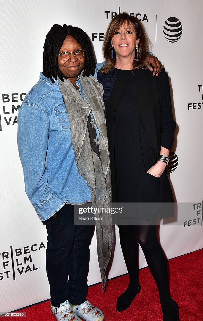 Whoopi Goldberg and co-founder of Tribeca Film Festivsal Jane Rosenthal attend the Shorts Program: Whoopi's Shorts - 2016 Tribeca Film Festival at Spring Studios on April 17, 2016 in New York City.