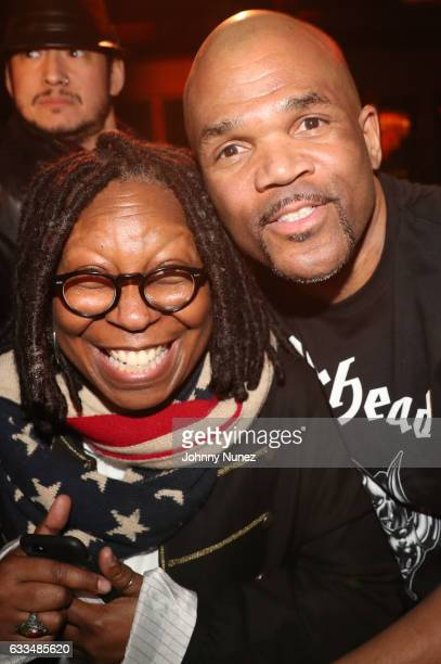 Whoopi Goldberg and Darryl 'DMC' McDaniels attend an An Evening Of Hip Hop at Penthouse at Dream Downtown on February 1 2017 in New York City