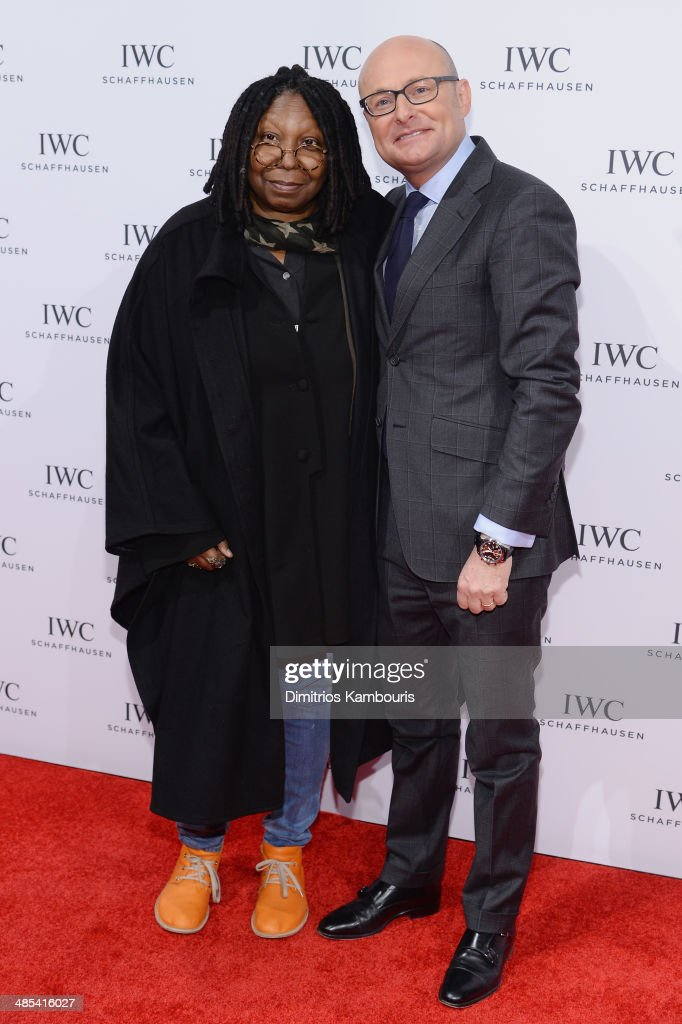 <a gi-track='captionPersonalityLinkClicked' href=/galleries/search?phrase=Whoopi+Goldberg&family=editorial&specificpeople=202463 ng-click='$event.stopPropagation()'>Whoopi Goldberg</a> and IWC CEO <a gi-track='captionPersonalityLinkClicked' href=/galleries/search?phrase=Georges+Kern&family=editorial&specificpeople=623163 ng-click='$event.stopPropagation()'>Georges Kern</a> attend the 'For the Love of Cinema' dinner hosted by IWC Schaffhausen and Tribeca Film Festival at Urban Zen on April 17, 2014 in New York City.
