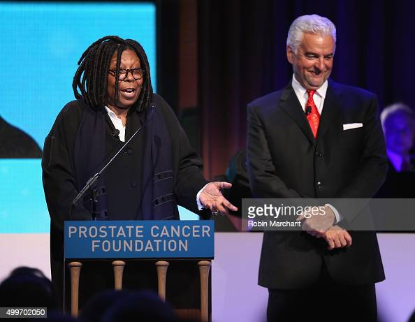 Whoopi Goldberg and John O'Hurley attend the Prostate Cancer Foundation Invites You To The 2015 New York Dinner With Celebrity Hosts Whoopi Goldberg...