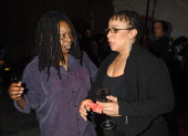 Whoopi Goldberg and S Epatha Merkerson during HBO AEG Live's 'The Comedy Festival' Comic Relief 2006 Backstage at Caesars Palace in Las Vegas Nevada...